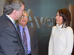 Rep. Kristi Noem talks with members of the Healthcare Leadership Council