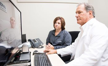 Dr. Matthew Stanley seeing patient using ecare telemedicine