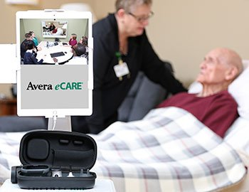 senior care virtual visit in progress